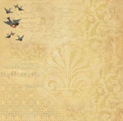 SC-259 Pássaros 3 - Papel para Scrapbook Dupla Face