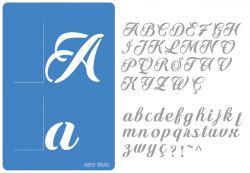 Alfabeto Stencil Cursivo