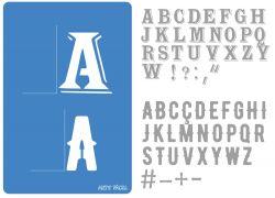 Alfabeto Stencil Serif