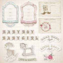 SC-380 It's a Baby 3 - Papel para Scrapbook Dupla Face