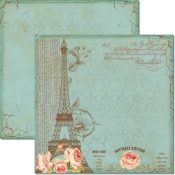 SC-166 Boutique Vintage - Papel para Scrapbook Dupla Face