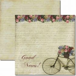 SC-133 Good News - Papel para Scrapbook Dupla Face