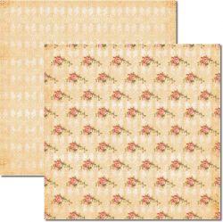 SC-197 Rosas e Arabesco 3 - Papel para Scrapbook Dupla Face