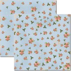 SC-247 Flores Miudas - Papel para Scrapbook Dupla Face