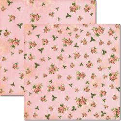 SC-249 Flores Miudas 3 - Papel para Scrapbook Dupla Face