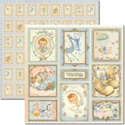 SC-267 Baby Boy - Papel para Scrapbook Dupla Face