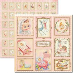 SC-269 Baby Girl - Papel para Scrapbook Dupla Face