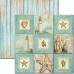SC-290 Beach 1 - Papel para Scrapbook Dupla Face