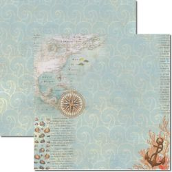 SC-291 Beach 2 - Papel para Scrapbook Dupla Face