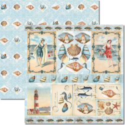 SC-293 Beach 4 - Papel para Scrapbook Dupla Face