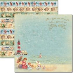SC-294 Beach 5 - Papel para Scrapbook Dupla Face