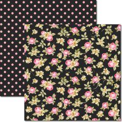 SC-348 Flores Miúdas 5 - Papel para Scrapbook Dupla Face