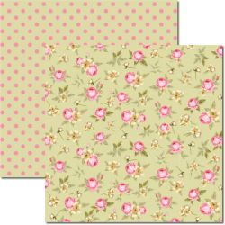 SC-349 Flores Miúdas 6 - Papel para Scrapbook Dupla Face