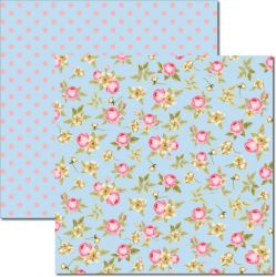 SC-350 Flores Miúdas 7 - Papel para Scrapbook Dupla Face