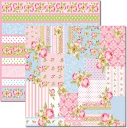 SC-353 Patchwork 3 - Papel para Scrapbook Dupla Face
