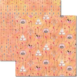 SC-355 Tribal - Papel para Scrapbook Dupla Face
