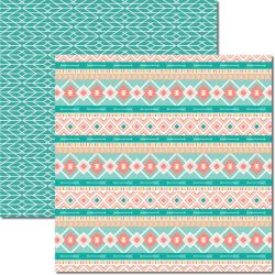 SC-359 Tribal 5 - Papel para Scrapbook Dupla Face