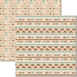 SC-360 Tribal 6 - Papel para Scrapbook Dupla Face