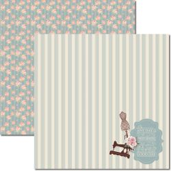SC-384 Costura 3 - Papel para Scrapbook Dupla Face