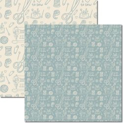 SC-385 Costura 4 - Papel para Scrapbook Dupla Face