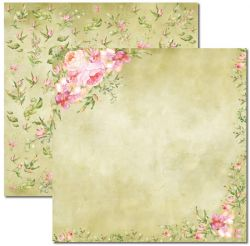 SC-390 Aquarela 1 - Papel para Scrapbook Dupla Face