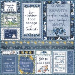 SC-433-Inverno Tags - Papel para Scrapbook Dupla Face