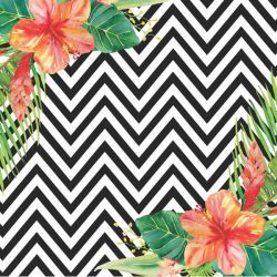 SC-447-Verão Tropical 1 - Papel para Scrapbook Dupla Face