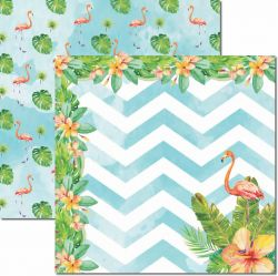 SC-449-Verão Tropical 3 - Papel para Scrapbook Dupla Face