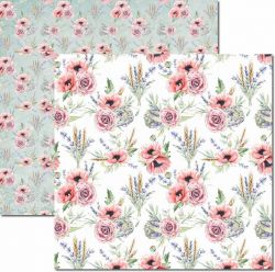 SC-452-Bouquet 5 - Papel para Scrapbook Dupla Face