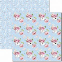SC-454-Bouquet 7 - Papel para Scrapbook Dupla Face