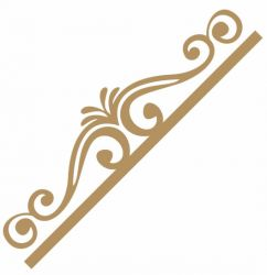 LR-825 1un. - Aplique Decorativo MDF