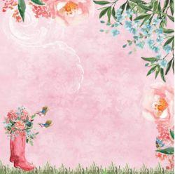 SC-458-Le Jardin 1 - Papel para Scrapbook Dupla Face