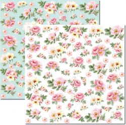 SC-467-Rose e Mint 1 - Papel para Scrapbook Dupla Face