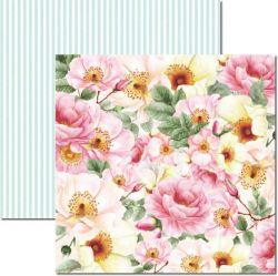 SC-468-Rose e Mint 2 - Papel para Scrapbook Dupla Face