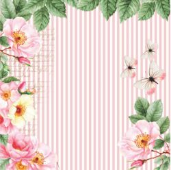 SC-469 - Rose e Mint 3 - Papel para Scrapbook Dupla Face