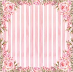 SC-470 - Rose e Mint 4 - Papel para Scrapbook Dupla Face
