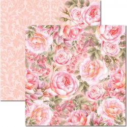 SC-471-Rose e Mint 5 - Papel para Scrapbook Dupla Face