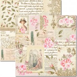SC-472 - Rose e Mint 6 - Papel para Scrapbook Dupla Face