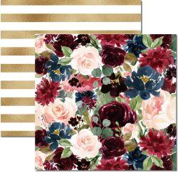 SC-481-Floral 5 - Papel para Scrapbook Dupla Face