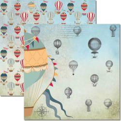SC484-Le Ballon 2 - Papel para Scrapbook Dupla Face