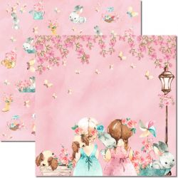SC-490-Sweet Girl 1 - Papel para Scrapbook Dupla Face
