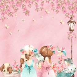 SC490-Sweet Girl 1 - Papel para Scrapbook Dupla Face