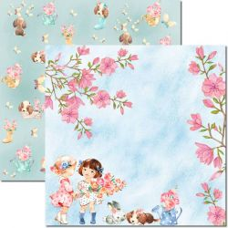 SC-492-Sweet Girl 3 - Papel para Scrapbook Dupla Face