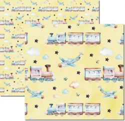 SC-495-My Baby Boy 3 - Papel para Scrapbook Dupla Face