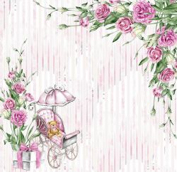SC496-My Baby Girl 1 - Papel para Scrapbook Dupla Face