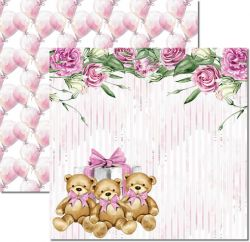 SC-497-My Baby Girl 2 - Papel para Scrapbook Dupla Face