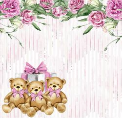SC497-My Baby Girl 2 - Papel para Scrapbook Dupla Face