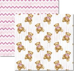 SC-498-My Baby Girl 3 - Papel para Scrapbook Dupla Face