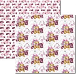 SC499-My Baby Girl 4 - Papel para Scrapbook Dupla Face
