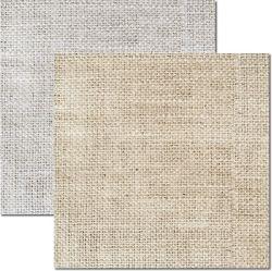 SC-504-Textura Juta - Papel para Scrapbook Dupla Face